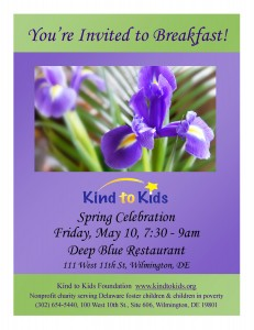 Save the Date - Spring Celebration Friday, May 10th, 7:30 - 9am Deep Blue Restaurant