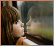 pensive girl, sad